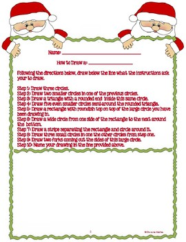 Short Day Christmas Procedural Text Activity