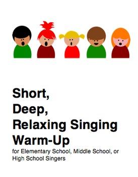 Short, Deep, Relaxing Singing Warm-Up
