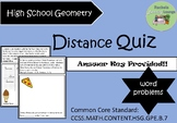 Distance Quiz with Word Problems