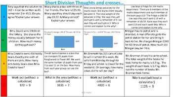 Short Division - Thoughts and Crosses