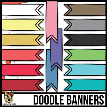 Short Doodle Banners Clip Art