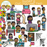 CVC Short E Vowel Clip Art - Volume Two
