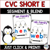 Short E CVC Families for Beginning Readers