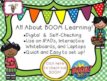 Short E CVC Read & Click Boom Task Cards FREEBIE!