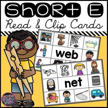 Short E CVC Read and Clip Cards
