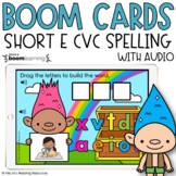 Short E CVC Spelling Boom Cards™ for Distance Learning