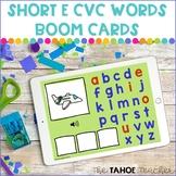 Short E CVC Word Boom Cards | Digital Literacy Activities