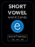 Short E CVC Word Family Cards