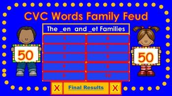 CVC Words Family Feud (Short E)