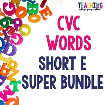 Short E CVC Word Super Bundle