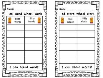 Short E CVC Word Wheel Word Work