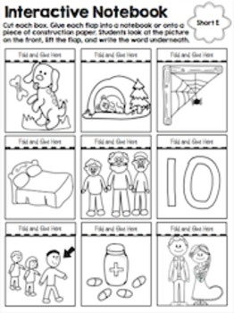 Short E CVC Word Work Activities