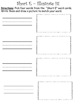 Short E - CVC - Word Work Bundle
