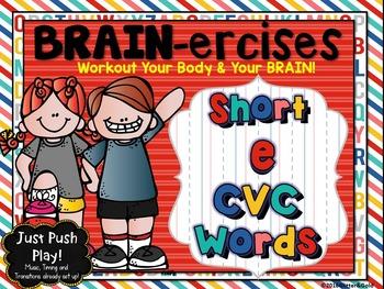 Short E CVC Words BRAIN-ercises
