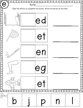 short e cvc words freebie by jessica littlest scholars tpt. Black Bedroom Furniture Sets. Home Design Ideas