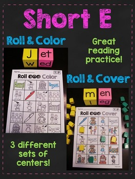 Short E CVC Words Roll Centers