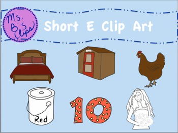 Short E Clip Art (Graphics for Commercial or Personal Use)
