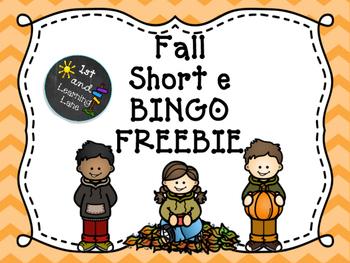 Short E Fall Bingo FREEBIE