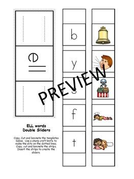 Short E- Family Words- Single & Double Sliders (ED, EG, ELL, EN, ET)