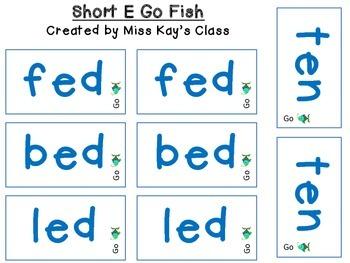 Short E Go Fish - CVC - CCVC