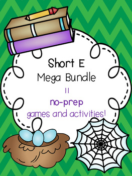 Short E Mega Bundle! [11 no-prep games and activities]