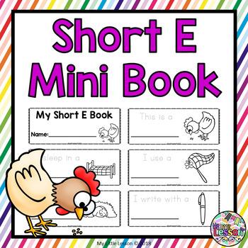 Short E Mini Book: Short Vowels