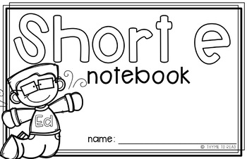 Short E Mini Interactive Notebook