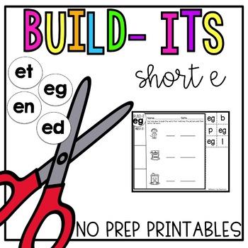 Short E No Prep Printables [Short E Build Its]