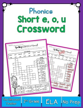 Short E, O & U Crossword Puzzle