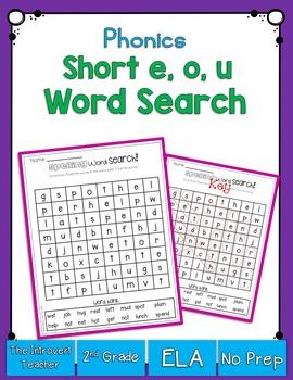 Short E, O & U Word Search