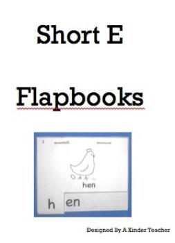 Short E - Onset and Rime Flapbooks
