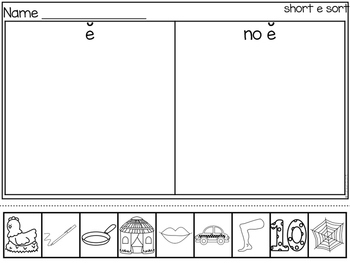 Short E Literacy Station Pack