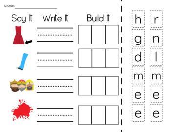 Short E Phonics Activities with CVC Words