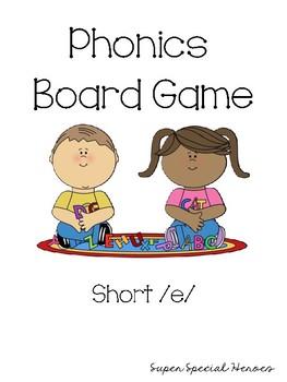 Short E Phonics Board Game