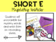 Short E Phonics Word Work Activities