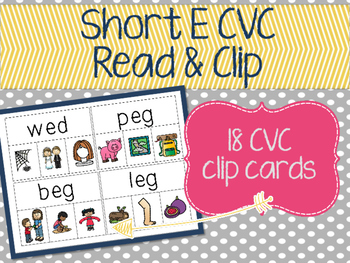 Short E Read & Clip Cards