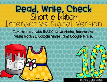 Short E Read, Write, Check Interactive Digital Edition