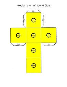 Short E: Roll and Create CVC words