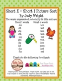 Short E - Short I Picture Sort