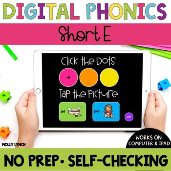 Short E Sound Tappers - Digital Phonics Learning {PowerPoint Games}