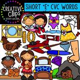 Short E Vowel Clipart CVC {Creative Clips Digital Clipart}