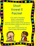 Short E Vowel Packet