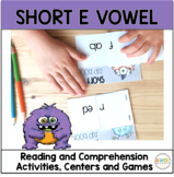 Short E Vowel Worksheets and Activities