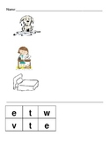 Short E Word Families-Build-a-Word