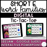 Short E Word Families Distance Learning Activities {Seesaw