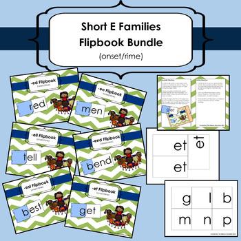 Short E Word Families Flipbook Bundle