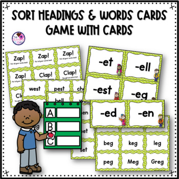 Word Families Short E Games and Activities