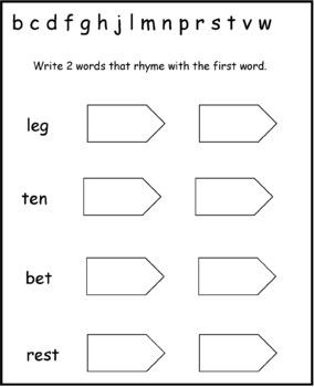 Short E Word Families: Phonics and Writing Fundamentals