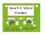 Short E Word Families - Turtles and flowers