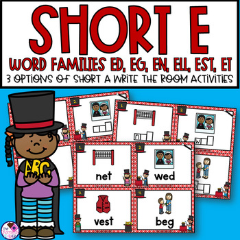 Short E Word Families Write the Room